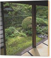 Koto-in Zen Temple Side Garden - Kyoto Japan Wood Print