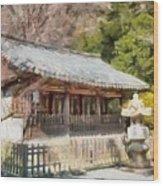 Kotoku-in Temple Wood Print