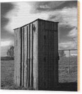 Koyl Cemetery Outhouse Wood Print