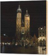 Krakow Saint Marys Basilica Wood Print