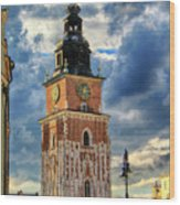 Krakow Town Hall Wood Print