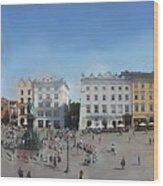 Krakow, Town Square Wood Print