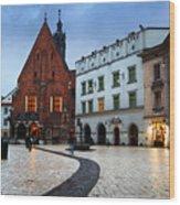 krakow 'XI Wood Print