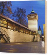 krakow 'XIV Wood Print