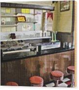 Kramers Drug Store Soda Fountain Wood Print