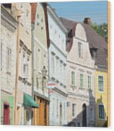 Kreme City Street Wood Print
