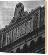Kress 1929 Wood Print
