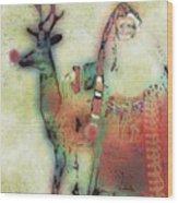 Kris And Rudolph Wood Print