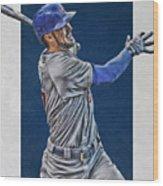 Kris Bryant Chicago Cubs Art 3 Wood Print
