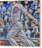 Kris Bryant Chicago Cubs Wood Print