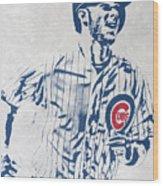 kris bryant CHICAGO CUBS PIXEL ART 2 Wood Print