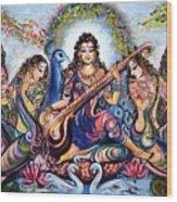 krishna - Kirtan  Wood Print