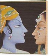 Krishna N Radha Wood Print