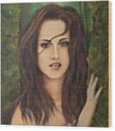 Kristen Stewart Wood Print