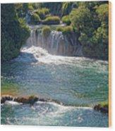 Krka National Park Waterfalls 5 Wood Print