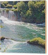 Krka National Park Waterfalls 6 Wood Print