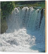 Krka National Park Waterfalls Wood Print