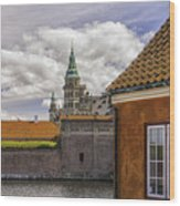 Kronborg Castle From The Moat House Wood Print