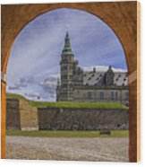 Kronborg Castle Through The Archway Wood Print