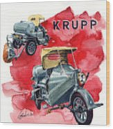 Krupp Street Sweeper Wood Print