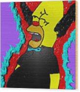 Krusty The Clown Found Dead Wood Print