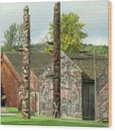 Ksan Historical Village Wood Print