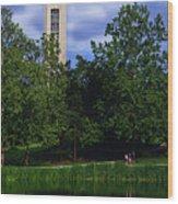 Ku Carrilon Tower Wood Print