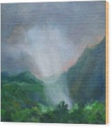 Kualoa Ranch Light Show Wood Print