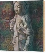 Kuan Yin Dragon Wood Print