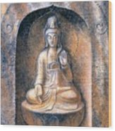 Kuan Yin Meditating Wood Print