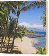 Kuau Cove Wood Print