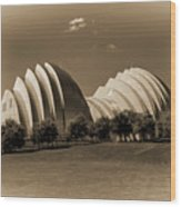 Kauffman Center Of Performing Arts Wood Print