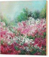 Kukenhof Rhododendrums Wood Print