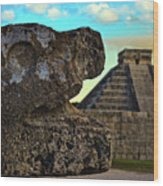 Kukulkan Pyramid At Chichen Itza In The Yucatan Of Mexico Wood Print