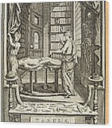 Kulmus About Perform Autopsy, 18th Wood Print