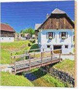 Kumrovec Picturesque Village In Zagorje Region Of Croatia Wood Print