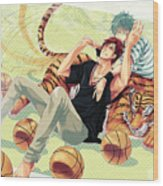 Kuroko's Basketball Wood Print