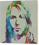 Kurt Cobain Nirvana Wood Print