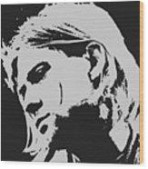 Kurt Cobain Poster Art Wood Print