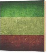 Kuwait Distressed Flag Dehner Wood Print