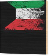 Kuwait Shirt Gift Country Flag Patriotic Travel Asia Light Wood Print