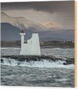 Kvitholmen Lighthouse Wood Print