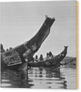 Kwakiutl Canoes, C1914 Wood Print by Granger