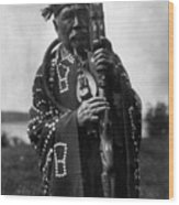Kwakiutl Chief, C1914 Wood Print
