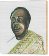 Kwame Nkrumah Wood Print