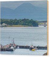 Kyle Of Lochalsh And The Isle Of Skye, Wood Print