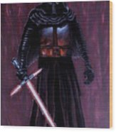 Kylo In Red Wood Print