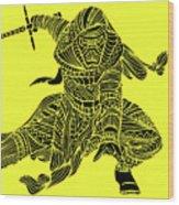 Kylo Ren - Star Wars Art - Yellow Wood Print