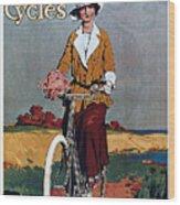 Kynoch Cycles - Bicycle - Vintage Advertising Poster Wood Print