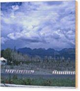 Kyrgyzstan Mountains Wood Print